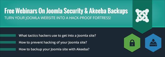 Joomla Security & Akeeba Backup Webinar