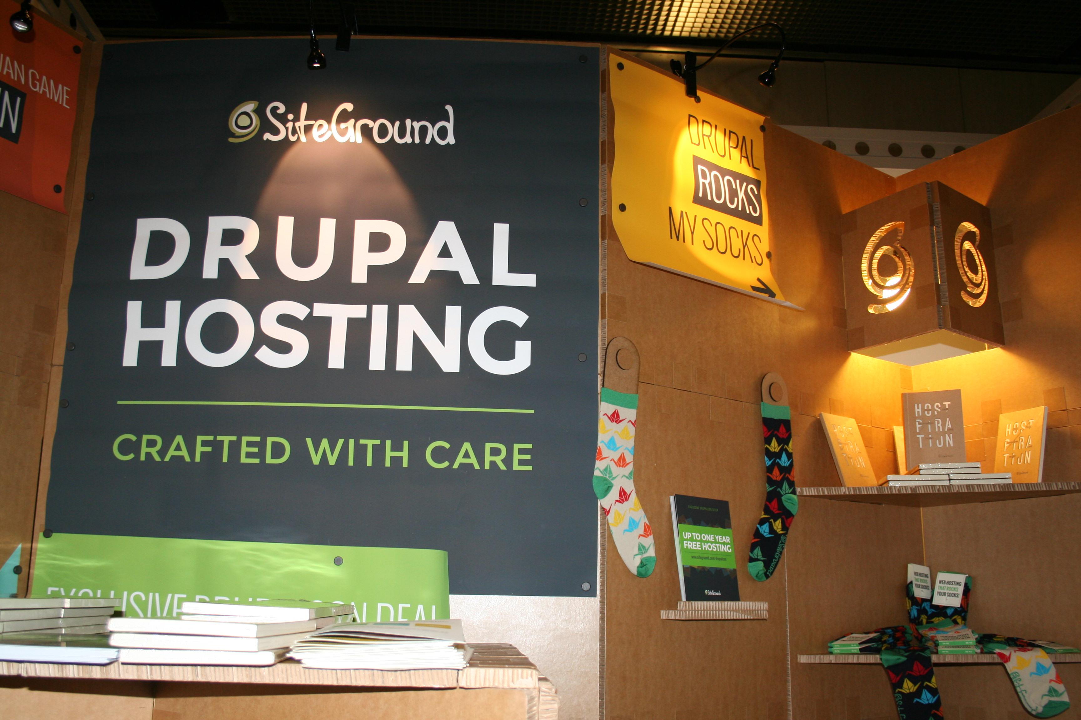 SiteGround DrupalCon Booth