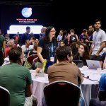 Francesca Marano leads a table at WCEU Contributor Day