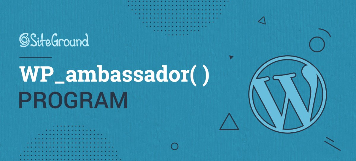SiteGround WordPress Ambassadors Program