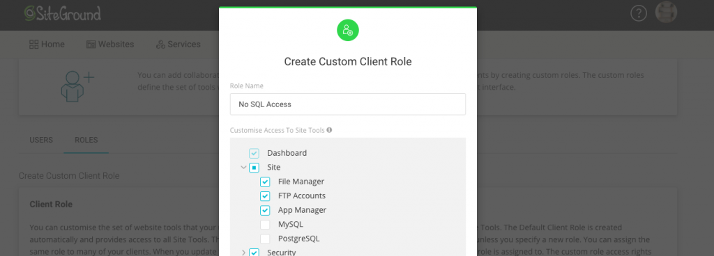 Manage the set of tools available to your clients
