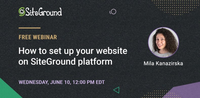How to set up a site with SiteGround