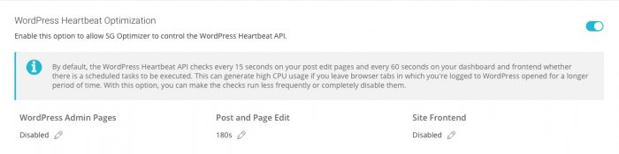 WordPress Heartbeat Optimization