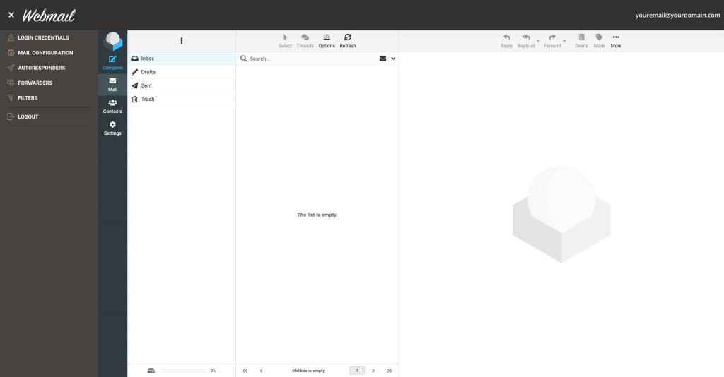 siteground new webmail app