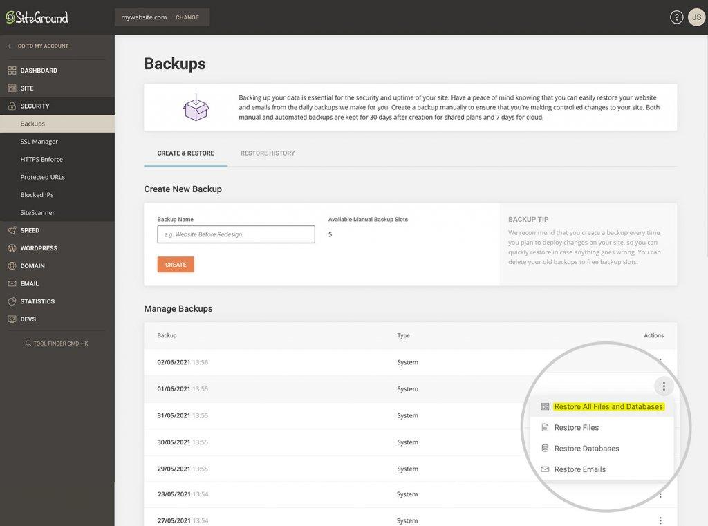 SiteGround_Site_Tools_Restore
