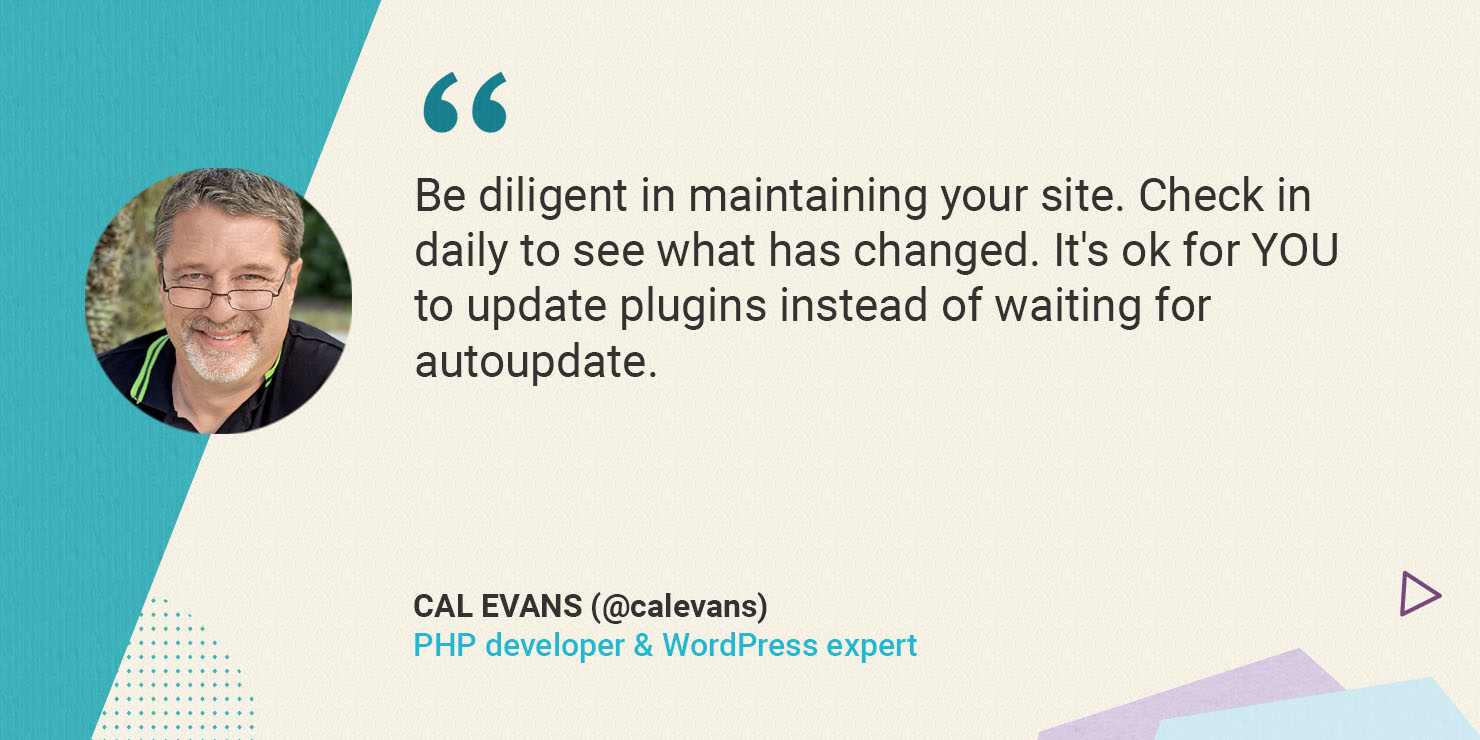 Cal Evans on maintaining your site security