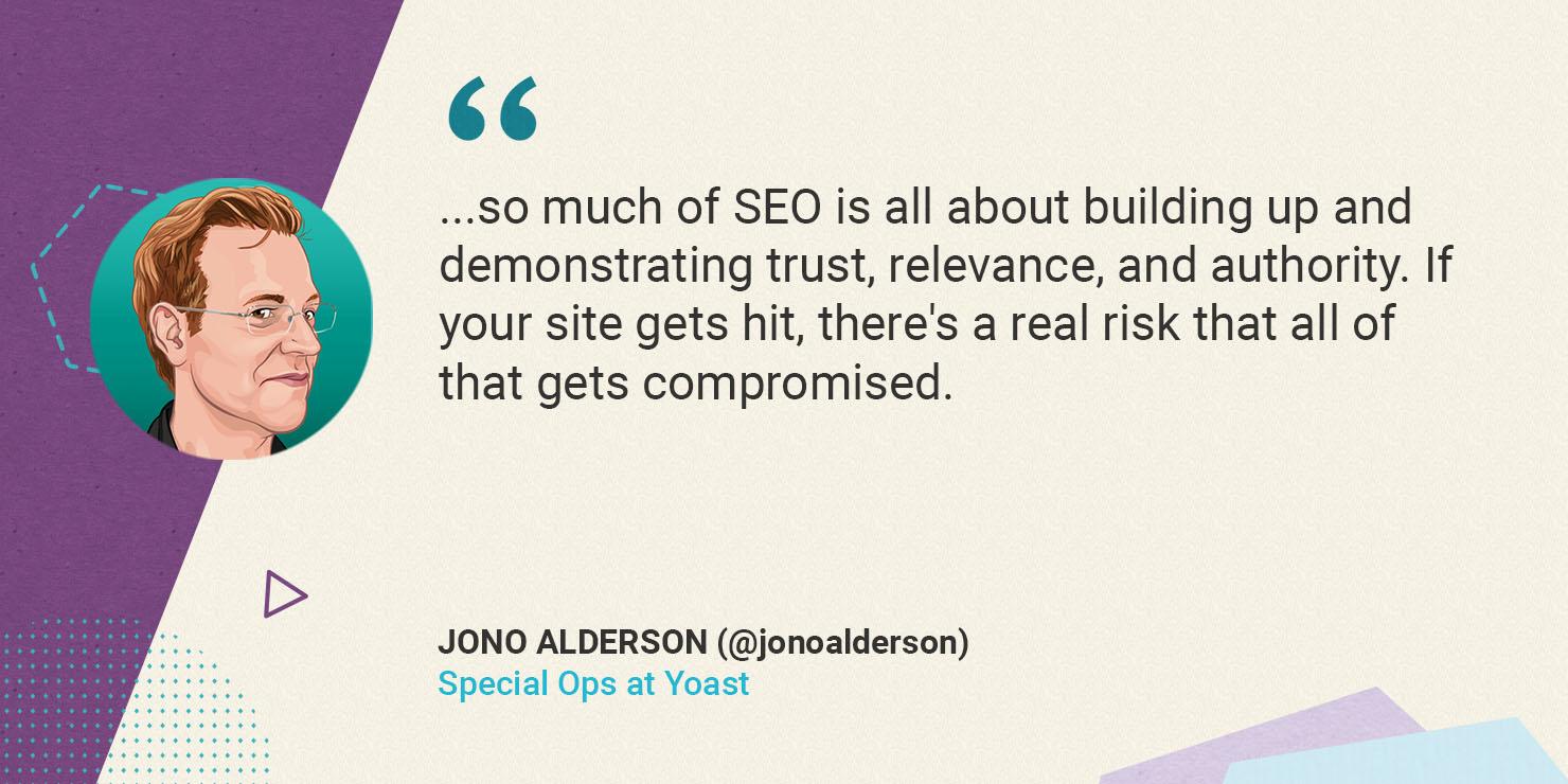 Jono Alderson on website security and SEO