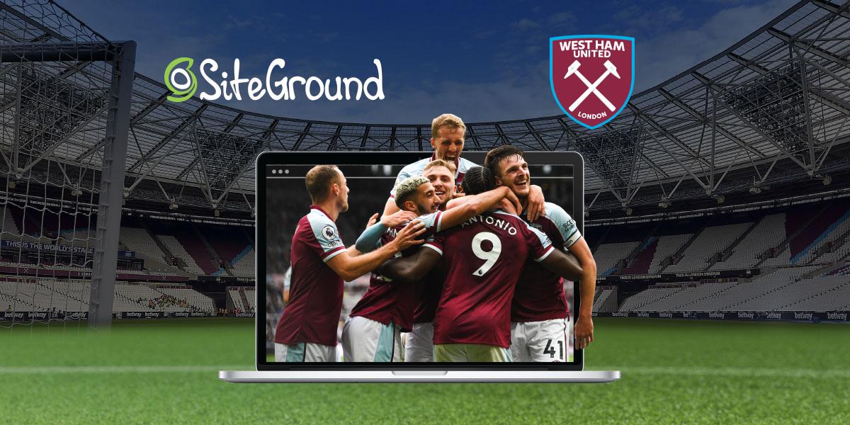 West Ham United x SiteGround Official partnership