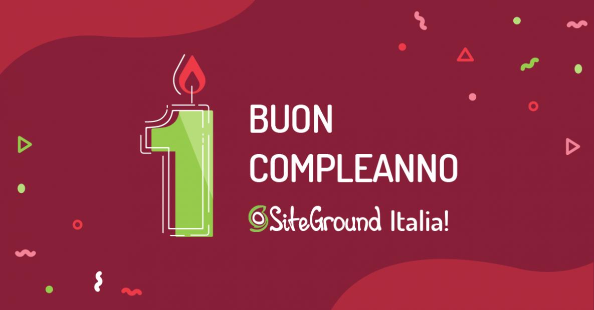 Primo compleanno siteground