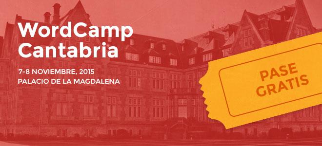 WordCamp Cantabria pase gratis