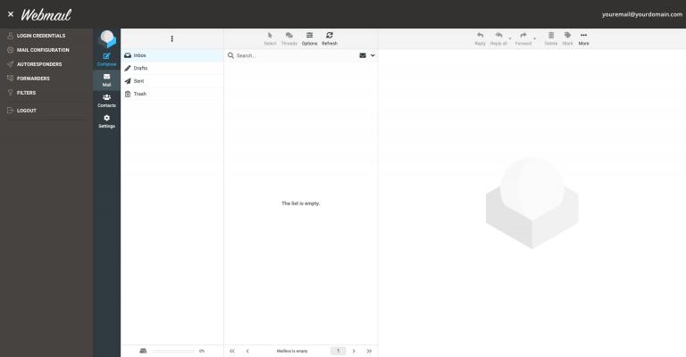 Nueva aplicación de Webmail de SiteGround
