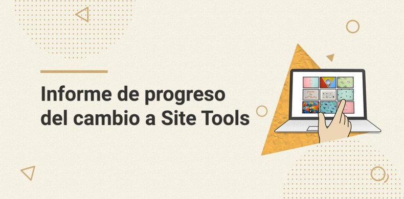 Progreso del cambio de cPanel a Site Tools
